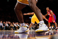 27 October 2009: Forward Ron Artest of the Los Angeles Lakers' shoes against the Los Angeles Clippers during the first half of the Lakers 99-92 victory over the Clippers at the STAPLES Center in Los Angeles, CA.