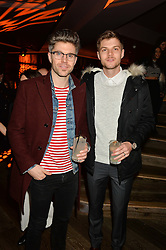 Left to right, DARREN KENNEDY and JIM CHAPMAN at a party to celebrate the opening of 100 Wardour Street, Soho, London on 28th January 2016.