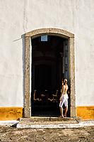 Porta lateral da Igreja Nossa Senhora das Necessidades, em Santo Antonio de Lisboa. Florianópolis, Santa Catarina, Brasil. / Side door of Nossa Senhora das Necessidades Church. Florianopolis, Santa Catarina, Brazil.