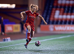 WIDNES, ENGLAND - Wednesday, February 7, 2018: Liverpool's Jessica Clarke during the FA Women's Super League 1 match between Liverpool Ladies FC and Arsenal Ladies FC at the Halton Stadium. (Pic by David Rawcliffe/Propaganda)