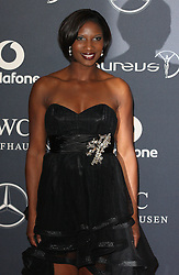 DENISE LEWIS. arrives at the Laureus Sport Awards held at the Queen Elizabeth II Centre, London, Monday February 6, 2012. Photo By i-Images