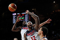 United States´s Cousins and Faried during FIBA Basketball World Cup Spain 2014 final match between United States and Serbia at `Palacio de los deportes´ stadium in Madrid, Spain. September 14, 2014. (ALTERPHOTOSVictor Blanco)