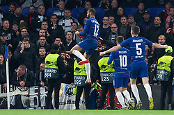 09.05.2019, Stamford Bridge, London, ENG, UEFA EL, FC Chelsea vs Eintracht Frankfurt, Halbfinale, Rückspiel, im Bild Ruben Loftus-Cheek of Chelsea celebrates after scoring the opening goal // Ruben Loftus-Cheek of Chelsea celebrates after scoring the opening goal during the UEFA Europa League semifinal 2nd leg match between FC Chelsea and Eintracht Frankfurt at the Stamford Bridge in London, Great Britain on 2019/05/09. EXPA Pictures © 2019, PhotoCredit: EXPA/ Focus Images/ Alan Stanford<br /> <br /> *****ATTENTION - for AUT, GER, FRA, ITA, SUI, POL, CRO, SLO only*****