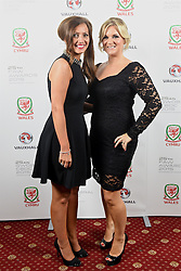 CARDIFF, WALES - Monday, October 5, 2015: Amanda Smith and Suzanne Twamley during the FAW Awards Dinner Dinner at Cardiff City Hall. (Pic by Pete Thomas/Propaganda)