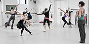 Dancers from the Columbia Ballet Collaborative rehearse choreographer Claudia Schreier's &quot;Chaconne&quot; in the Streng Studio Barnard College, Columbia University.<br /> .