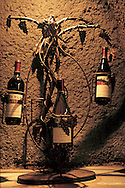 Wine Bottle display rack in the wine Caves at Eberle Winery, Paso Robles, San Luis Obispo County, California
