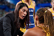 Sunshine Coast coach Noeline Taurua.<br /> PERTH, AUSTRALIA - AUGUST 26: West Coast Fever vs the Sunshine Coast Lightning during the Suncorp Super Netball Grand Final match from Perth Arena - Sunday 26th August 2018 in Perth, Australia. (Photo by Daniel Carson/dcimages.org/Netball WA)