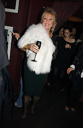PATTI BOYD at a Black, White and Gold party to celebrate the December 'Party' issue of Harper's Bazaar featuring the 'Going Out' Guide in association with Moet & Chandon  held at Ronnie Scotts, 47 Frith Street, London on 16th November 2006.<br /><br />NON EXCLUSIVE - WORLD RIGHTS