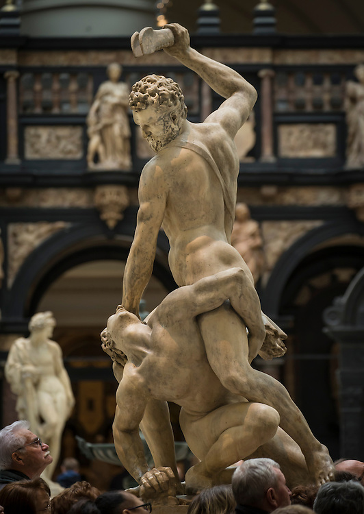Samson slaying a Philistine.<br />