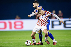 Andrej Kramaric of Croatia during the football match between National teams of Croatia and Greece in First leg of Playoff Round of European Qualifiers for the FIFA World Cup Russia 2018, on November 9, 2017 in Stadion Maksimir, Zagreb, Croatia. Photo by Ziga Zupan / Sportida