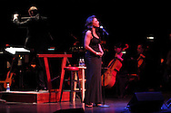 Conductor Brian Hertz leads the Dayton Philharmonic Orchestra as Audra McDonald sings during the 10th Anniversary Concert at the Schuster Center in downtown Dayton, Friday, March 1, 2013.