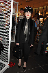 KELLY OSBOURNE at a party to celebrate the opening of the new H&M store at 234 Regent Street, London on 13th February 2008.<br />