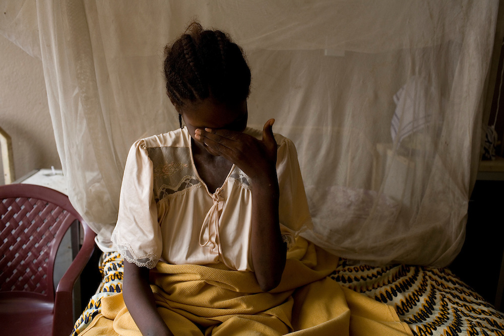 Fatmata Kamara, 17 has been in PCMH more than a month after a c section. (july 21st). baby was lost, Fatmata didnt know, she had been told the baby was at home.