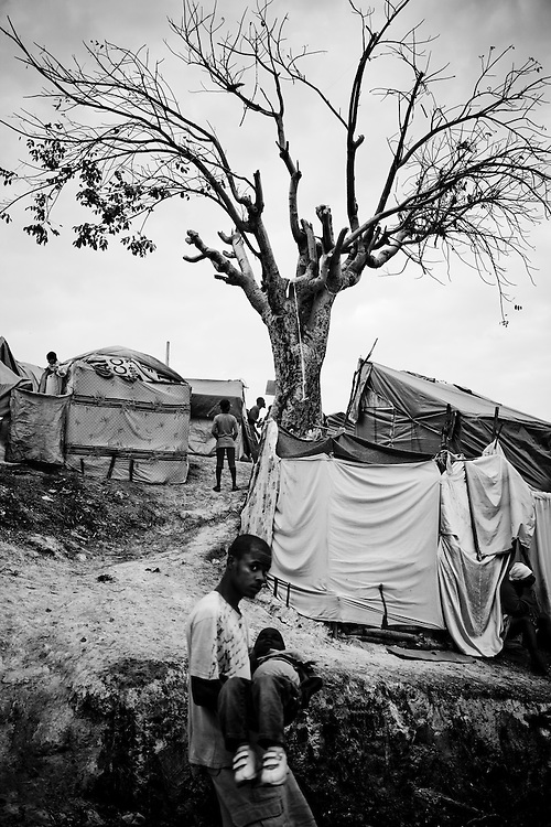 A resident of a camp for those displaced by the recent earthquake in Petionville, outside Port-au-Prince, Haiti.