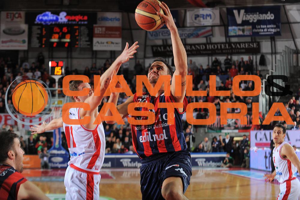 DESCRIZIONE : Varese Lega A 2011-12 Cimberio Varese Angelico Biella<br /> GIOCATORE : Tadija Dragicevic<br /> CATEGORIA : Tiro Penetrazione<br /> SQUADRA : Angelico Biella<br /> EVENTO : Campionato Lega A 2011-2012<br /> GARA : Cimberio Varese Angelico Biella<br /> DATA : 18/12/2011<br /> SPORT : Pallacanestro<br /> AUTORE : Agenzia Ciamillo-Castoria/A.Dealberto<br /> Galleria : Lega Basket A 2011-2012<br /> Fotonotizia : Varese Lega A 2011-12 Cimberio Varese Angelico Biella<br /> Predefinita :