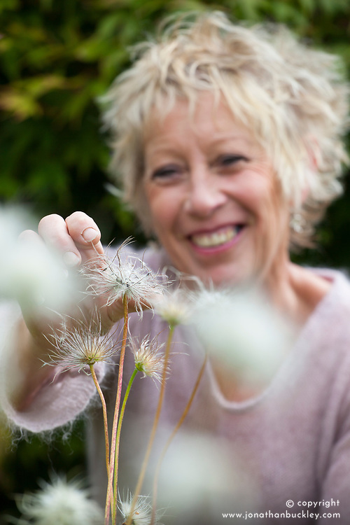 Carol Klein collecting seed of Pulsatilla vulgaris