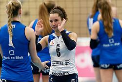 26-10-2019 NED: Talentteam Papendal - Sliedrecht Sport, Ede<br /> Round 4 of Eredivisie volleyball - Emma Rekar #5 of Sliedrecht Sport