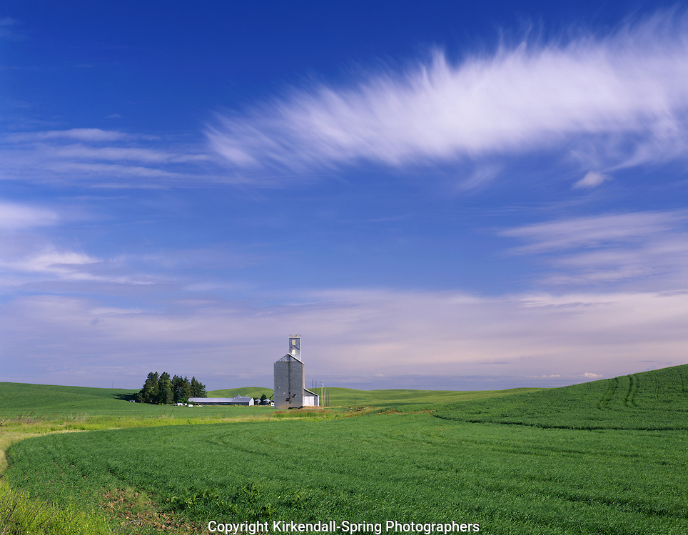 AA07313-03...WASHINGTON - Grain silo in the farm fields of the Palouse area of Eastern Washington.