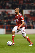 Nottingham Forest midfielder Adlene Guedioura (5) during the EFL Sky Bet Championship match between Nottingham Forest and Barnsley at the City Ground, Nottingham, England on 24 April 2018. Picture by Jon Hobley.