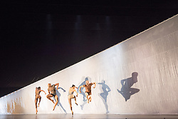 © Licensed to London News Pictures. 27/09/2013. Cedar Lake Contemporary Ballet Company return to Sadler's Wells Theatre, London. The bill consists of Indigo Rose, created by JiÅí Kylián, Ten Duets on a Theme of Rescue, by Canadian choreographer Crystal Pite, and Jo Strømgren's Necessity. Photo credit: Tony Nandi/LNP.