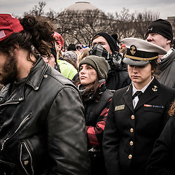 Supporters of President Elect Donald J. Trump are pictured during the swearing in of the 45 President of the United States at the National Mall in Washington, D.C., Friday Jan. 20, 2017. ( William B. Plowman / REDUX Photo )