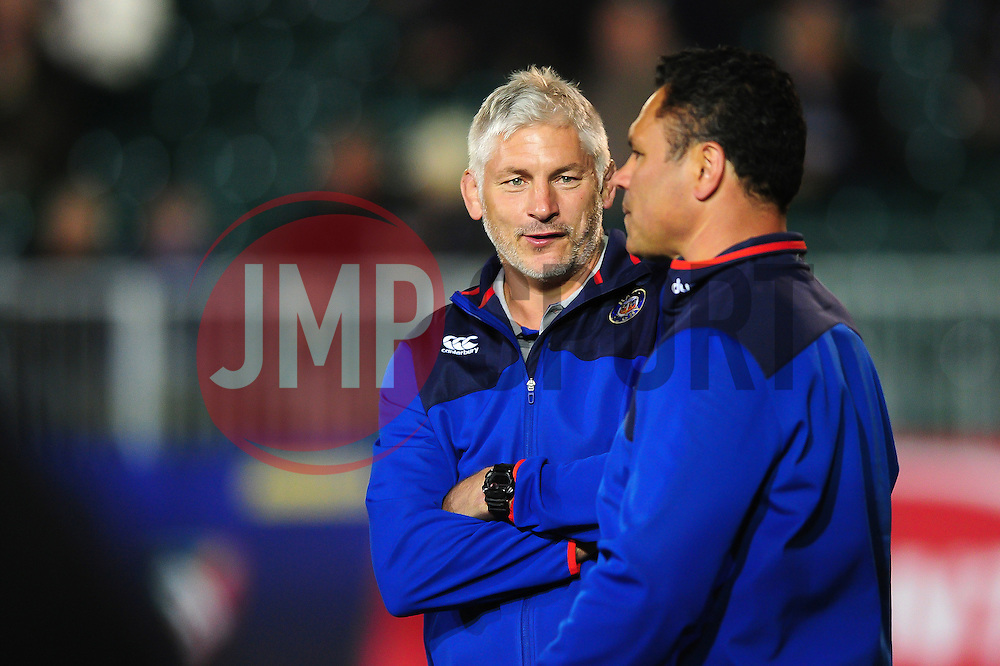 Bath Director of Rugby Todd Blackadder speaks to Head coach Tabai Matson - Mandatory byline: Patrick Khachfe/JMP - 07966 386802 - 07/10/2016 - RUGBY UNION - The Recreation Ground - Bath, England - Bath Rugby v Sale Sharks - Aviva Premiership.