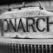 Monarch Radiator - Pottsville - Merlin, Oregon - Lensbaby - Black & White