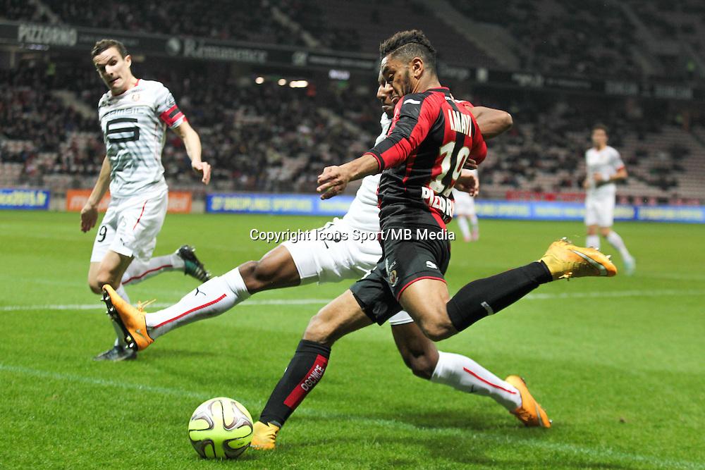 Romain DANSE / Steven MOREIRA / Jordan AMAVI - 03.12.2014 - Nice / Rennes - 16eme journee de Ligue 1 -<br /> Photo : Jean Christophe Magnenet / Icon Sport