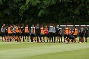 18.01.2019 - SÃO PAULO, SP - Jogadores durante treino do São Paulo Futebol Clube realizado no CCT Barra Funda, na Zona Oeste de São Paulo (SP). ( Foto: Jales Valquer / FramePhoto )