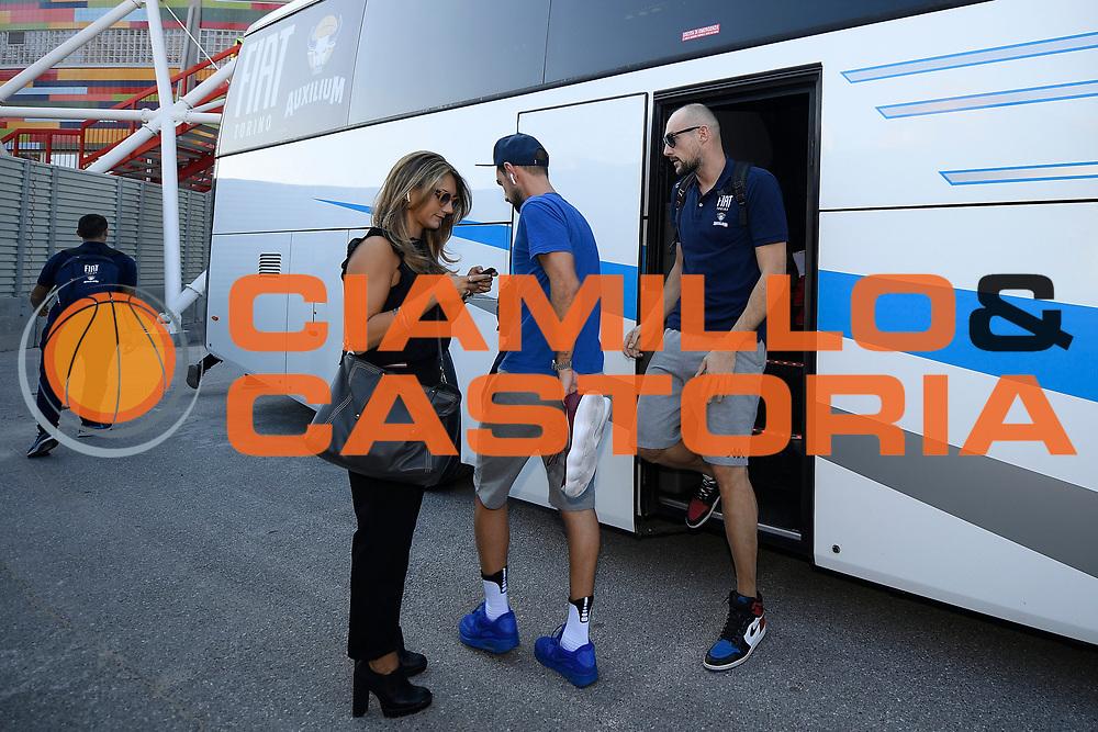 Cusin Marco, Benedetta Abbruzzese<br /> A|X Armani Exchange Milano - Fiat Torino<br /> Zurich Connect Supercoppa 2018-2019<br /> Lega Basket Serie A<br /> Brescia 30/09/2018<br /> Foto Ciamillo &amp; Castoria