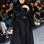Designer Najwa Alfadli showcases it latest collection at Stories From Arabia Fashion Show AW19, London, UK. 16 Feb 2019.