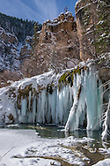 Hanging Lake in winter near Glenwood Springs, Colorado.