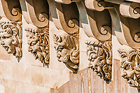 detail of pont neuf in the city of Paris in france