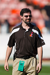 Oct 30, 2011; San Francisco, CA, USA; Cleveland Browns assistant strength and conditioning coach Rick Lyle on the field before the game against the San Francisco 49ers at Candlestick Park. San Francisco defeated Cleveland 20-10. Mandatory Credit: Jason O. Watson-US PRESSWIRE