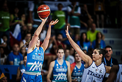 Annamaria Prezelj of Slovenia vs Cecilia Zandalasini of Italy during basketball match between Women National teams of Italy and Slovenia in Group phase of Women's Eurobasket 2019, on June 30, 2019 in Sports Center Cair, Nis, Serbia. Photo by Vid Ponikvar / Sportida