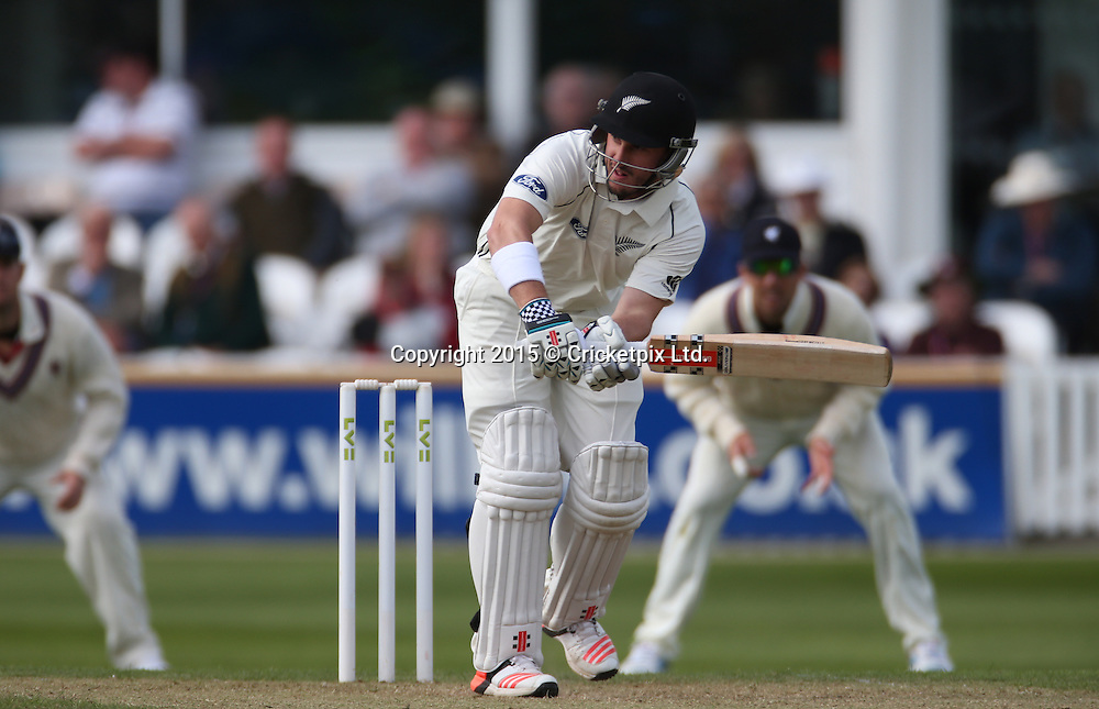 Hamish Rutherford bats during the four day game between Somerset and a New Zealand XI at the County Ground, Taunton. Photo: Graham Morris/www.cricketpix.com (Tel: +44 (0)20 8969 4192; Email: graham@cricketpix.com) 09052015