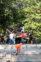 alice in wonderland statue in central park in New York City in October 2008