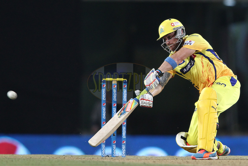 Brendon McCullum of The Chennai Super Kings  stretches to make contact as he is caught on the boundary by Yusuf Pathan of the Kolkata Knight Riders during match 21 of the Pepsi Indian Premier League Season 2014 between the Chennai Superkings and the Kolkata Knight Riders  held at the JSCA International Cricket Stadium, Ranch, India on the 2nd May  2014<br /> <br /> Photo by Shaun Roy / IPL / SPORTZPICS<br /> <br /> <br /> <br /> Image use subject to terms and conditions which can be found here:  http://sportzpics.photoshelter.com/gallery/Pepsi-IPL-Image-terms-and-conditions/G00004VW1IVJ.gB0/C0000TScjhBM6ikg