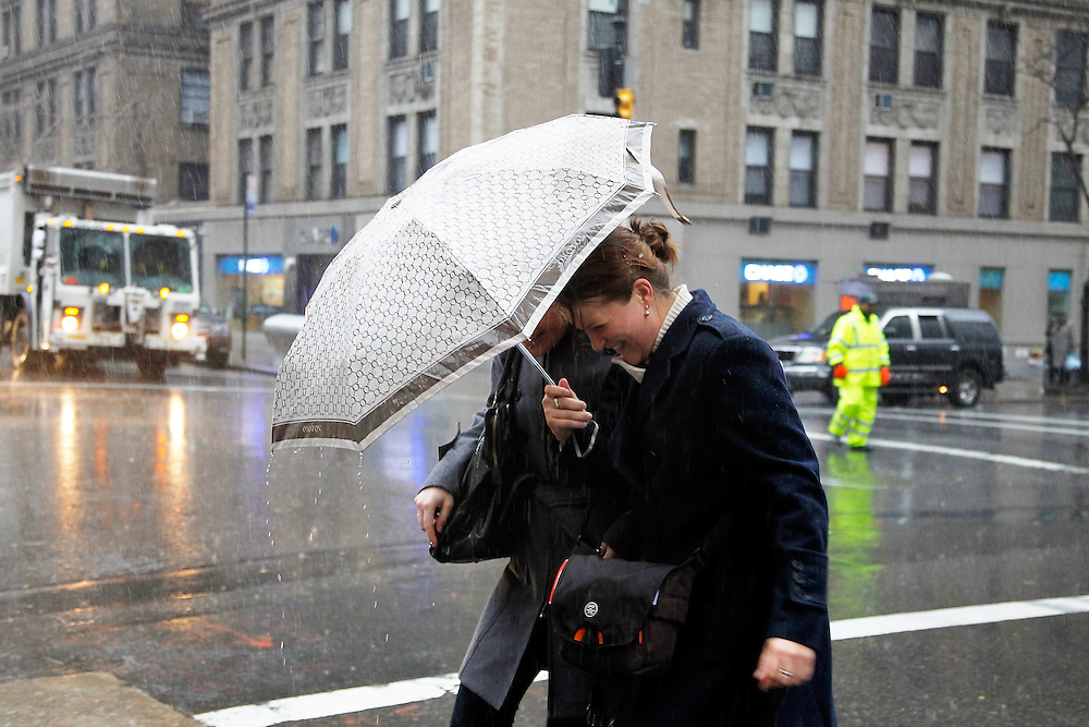 Pedestrians crossing Madison Avenue on December 1, 2010 in  New York City.Photo by: Joe Kohen for The Wall Street Journal.