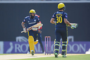 Hashim Amla and Rilee Rossouw of Hampshire opening the batting during the Royal London One Day Cup match between Hampshire County Cricket Club and Essex County Cricket Club at the Ageas Bowl, Southampton, United Kingdom on 23 May 2018. Picture by Dave Vokes.