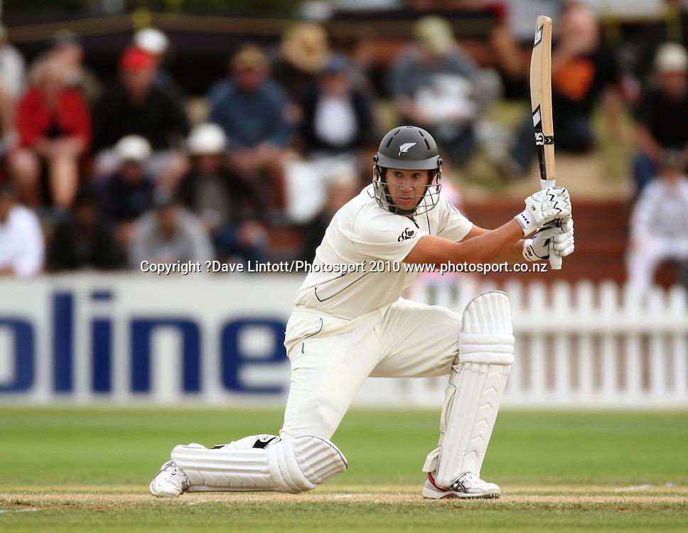 NZ batsman Ross Taylor.<br /> 1st cricket test match - New Zealand Black Caps v Australia, day two at the Basin Reserve, Wellington.Saturday, 20 March 2010. Photo: Dave Lintott/PHOTOSPORT