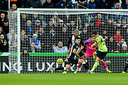 Harry Wilson (#22) of AFC Bournemouth scores AFC Bournemouth's first goal (0-1) during the Premier League match between Newcastle United and Bournemouth at St. James's Park, Newcastle, England on 9 November 2019.