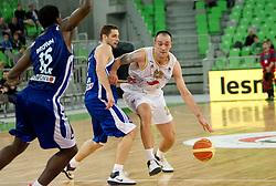Damir Markota of Olimpija during basketball match between KK Union Olimpija and Zadar in 15th round of NLB league in Arena Stozice on January 8, 2010 in SRC Stozice, Ljubljana, Slovenia. (Photo by Vid Ponikvar / Sportida)
