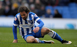 Brighton and Hove Albion's Inigo Calderon - Photo mandatory by-line: Harry Trump/JMP - Mobile: 07966 386802 - 14/03/15 - SPORT - Football - Sky Bet Championship - Brighton v Wolves - Amex Stadium, Brighton, England.