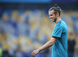 May 25, 2018 - Kiev, Ukraine - Real Madrid's Welsh forward Gareth Bale during a Real Madrid team training session at the Olympic Stadium in Kiev, Ukraine on May 25, 2018, on the eve of the UEFA Champions League final football match between Liverpool and Real Madrid. (Credit Image: © Raddad Jebarah/NurPhoto via ZUMA Press)