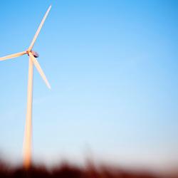 A wind turbine in Newburyport, Massachusetts.