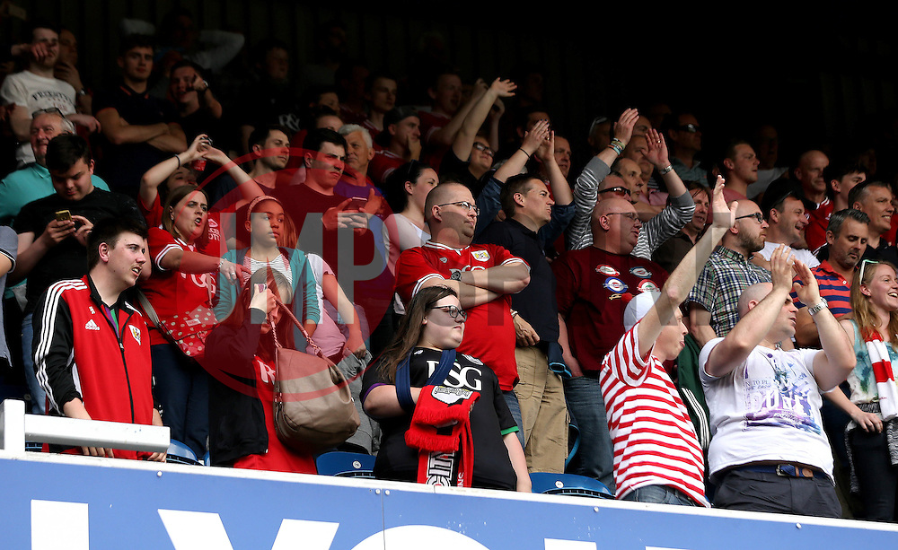 Bristol City fans - Mandatory by-line: Robbie Stephenson/JMP - 07/05/2016 - FOOTBALL - Loftus Road - London, England - Queens Park Rangers v Bristol City - Sky Bet Championship