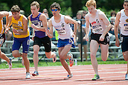 2011/05/28 - Nick Guarino of SUNY Fredonia (center, in sunglasses) starts the 1500-meter final at the 2011 NCAA Division-3 Championships in Delaware, Ohio. Guarino won in 3:53.43, and later won the 800-meter run, making him the first Division-3 runner to win both events since Nick Symmonds in 2006.