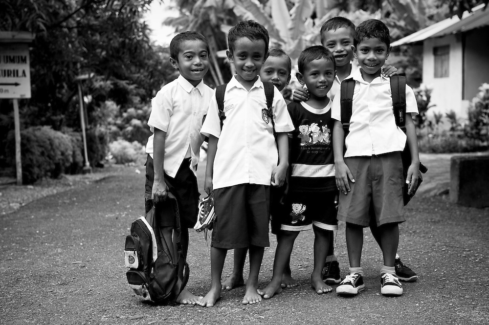Dressed up and ready for school, Hukurila Village, South Ambon, Indonesia.