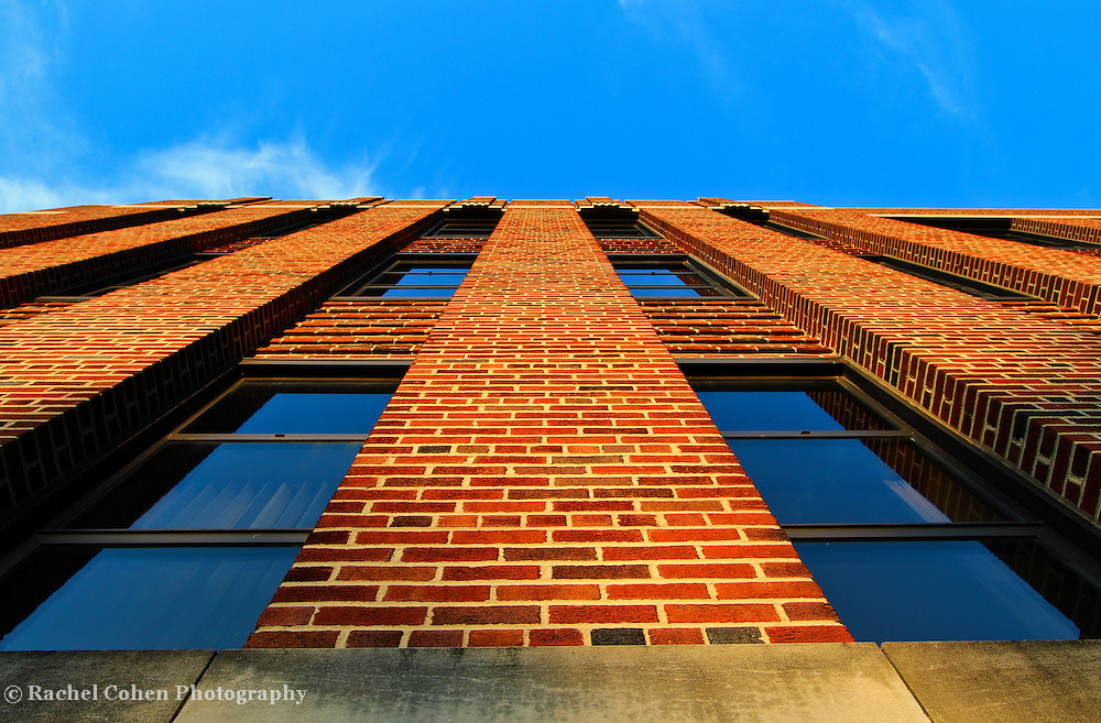 &quot;Climbing the Walls&quot;<br /> <br /> Walls and windows against the blue sky at Eastern Michigan University!!<br /> <br /> Architecture: Structures and buildings by Rachel Cohen
